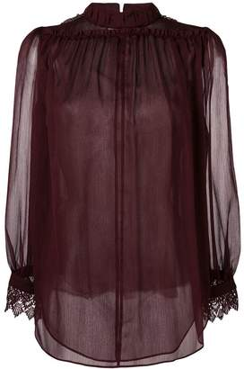 Steffen Schraut sheer lace detail blouse