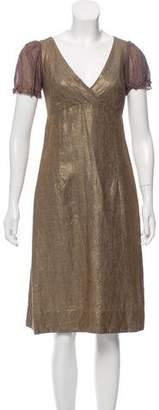Dosa Metallic Linen Dress
