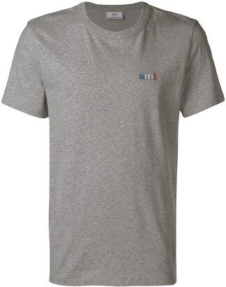 Ami Paris T-Shirt With Embroidery