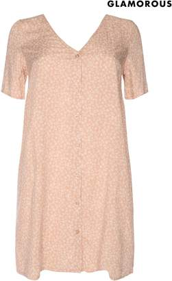 Next Womens Glamorous Curve Floral Button Front Dress