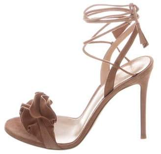 Gianvito Rossi Flora Sandals w/ Tags Pink Flora Sandals w/ Tags
