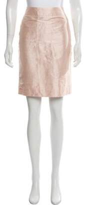 Armani Collezioni Silk Knee-Length Skirt Pink Silk Knee-Length Skirt