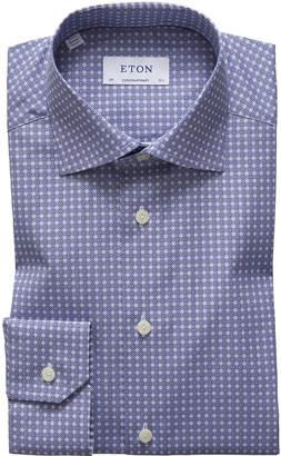 Men's Circle Medallion-Print Dress Shirt