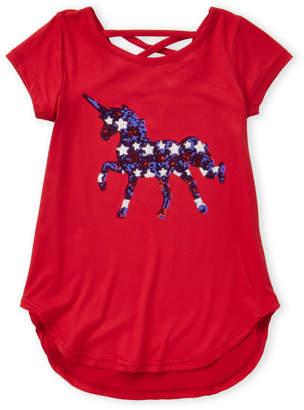 Americana Poof Girl (Girls 7-16 Unicorn Tee