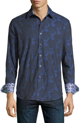 Robert Graham Classic-Fit Hidden View Sport Shirt, Navy