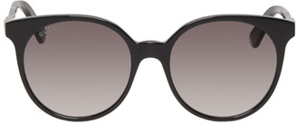 Gucci Black and Grey Round Sunglasses