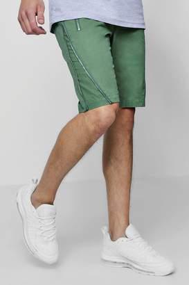 boohoo Zip Detail Woven Shorts