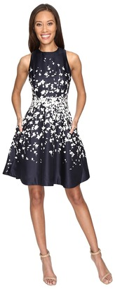 Donna Morgan Sleeveless Fit and Flare Poly Twill Dress $98 thestylecure.com