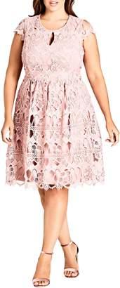 City Chic Akiko Lace Dress