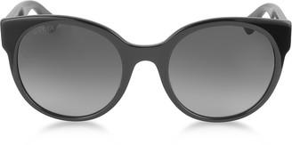Gucci GG0035S 001 Black Optyl Round Women's Sunglasses