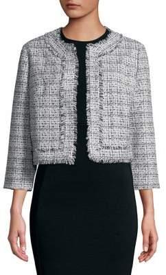 Karl Lagerfeld Paris Tweed Crop Jacket
