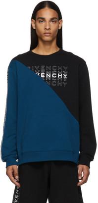 Givenchy Blue Diagonal Colorblock Sweatshirt