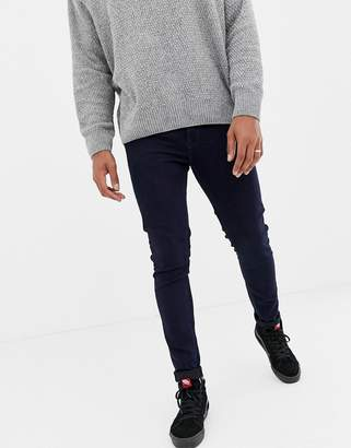 ONLY & SONS skinny dark blue jeans