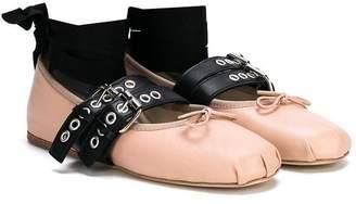 Douuod Kids TEEN multi-strap ballerinas