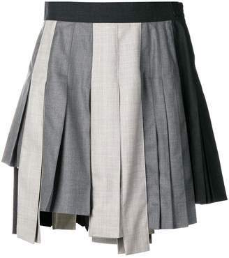 Thom Browne Altered Pleat Miniskirt