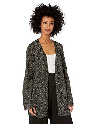 Chaus Women's Long Sleeve Pointelle Novelty Cardigan