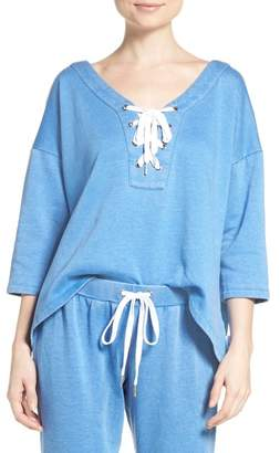 The Laundry Room Lace-Up Sweatshirt $112 thestylecure.com