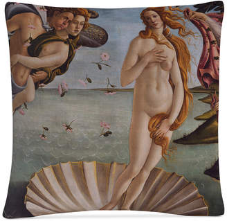 "Sandro Trademark Global Botticelli Birth of Venus 1484 16"" x 16"" Decorative Throw Pillow"
