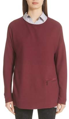 Lafayette 148 New York Pocket Detail Sweater