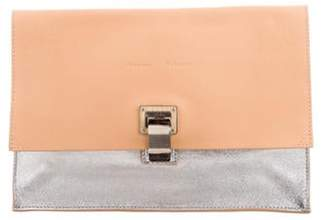 Proenza Schouler Leather Lunch Clutch silver Leather Lunch Clutch