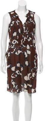 Marni Abstract Print Dress Brown Abstract Print Dress