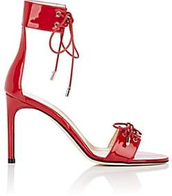 GIANNICO Women's Olivia Patent Leather Sandals - Red