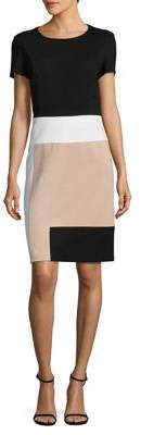 NUE by Shani Colorblock Sheath Dress