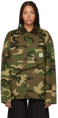 R 13 Green Camo Workman Jacket
