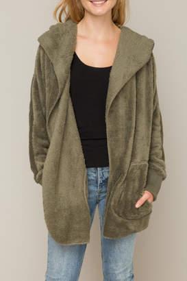 Hem & Thread Hooded Open Cardigan