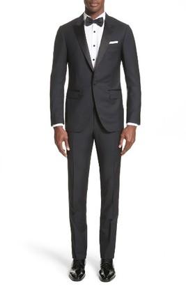 Men's Lanvin Peak Lapel Wool Blend Tuxedo $2,490 thestylecure.com