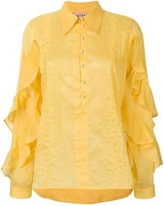 No.21 ruffled sleeve blouse