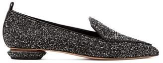 Nicholas Kirkwood Beya Boucle Loafers - Womens - Black White
