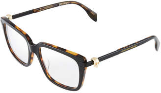 Alexander McQueen Square Tortoiseshell Acetate Optical Glasses