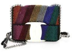 Salvatore Ferragamo Mini Vara Leather Multicolored Gem Crossbody Bag