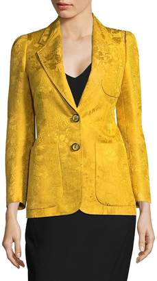 Roberto Cavalli Women's Notch Lapel Wool and Silk Blazer