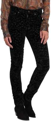 Saint Laurent Leopard Velvet Stretch Pants