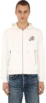Moncler Logo Zip-Up Cotton Sweatshirt Hoodie