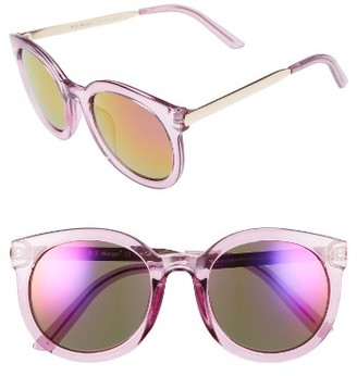 Women's A.j. Morgan Cat D 53Mm Sunglasses - Purple / Mirror $24 thestylecure.com