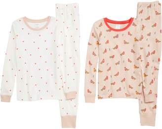 Boden Mini 2-Pack Fitted Two-Piece Pajamas
