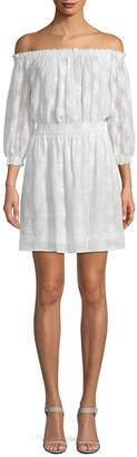 Rebecca Taylor Off-The-Shoulder Popover Dress
