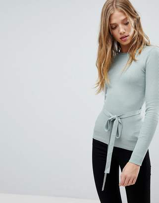 Brave Soul Sweater With Belted Waist