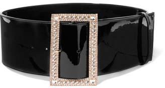 Alexandre Vauthier Crystal-embellished Patent-leather Belt - Black