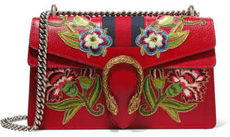 Gucci Dionysus Small Appliquéd Textured-leather Shoulder Bag