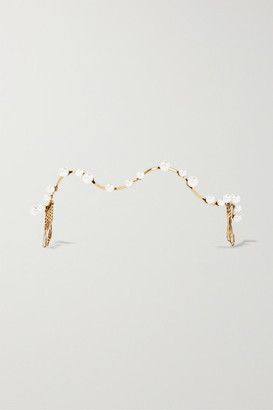 LELET NY - Orbit Gold-plated Faux Pearl Headpiece