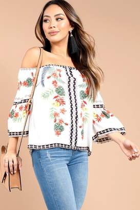 Mine Tropical White Blouse