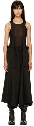 Y's Ys Black Suspender Drop Skirt