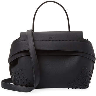 Tod's TodS Wave Leather Satchel