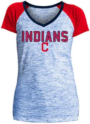 5th & Ocean Women's Cleveland Indians Space Dye Stone T-Shirt