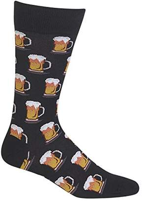 Hot Sox Men's Food and Drink Novelty Crew Socks