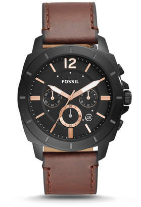 Fossil Privateer Sport Chronograph Brown Leather Watch